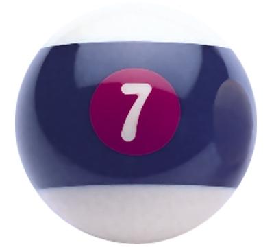 Belgian Aramith Seven-Ball