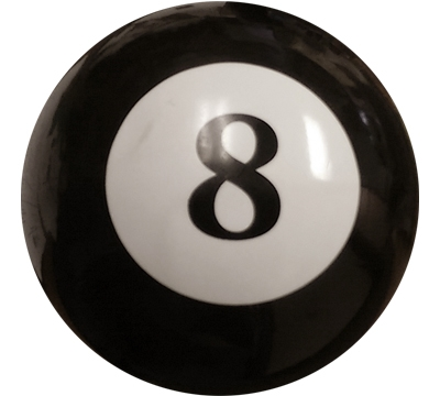 "6"" Eight-Ball Beach Ball"