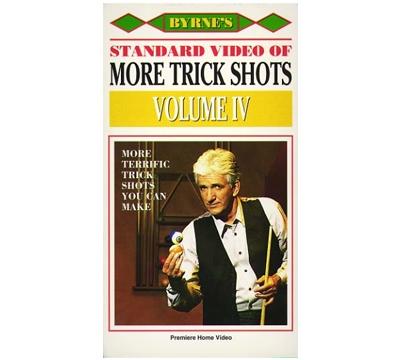 """Byrne's """"Standard Video of More Trick Shots Volume IV"""" VHS Format"""