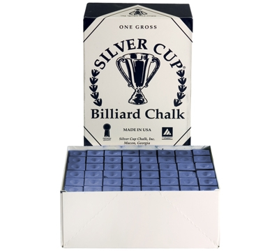 Blue Silver Cup Billiard Chalk – Box/144