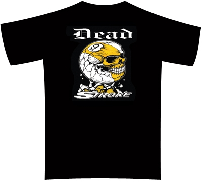 Dead Stroke Pool T-Shirt – 9-Ball Skull