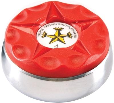 Triple Crown Individual Shuffleboard Puck - Red
