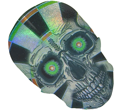 Skull/Green Eyes 2D/3D Slim Flight