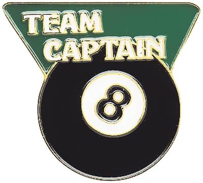 8-Ball Team Captain Pin