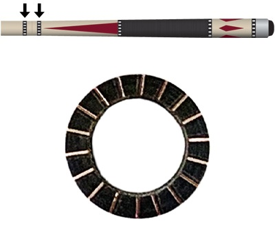 Black/Copper 18 Dash Shaft/Joint Ring