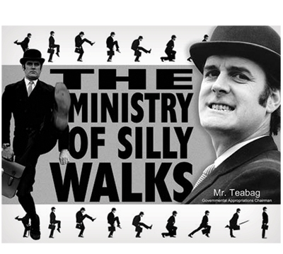 Silly Walks Metal Sign