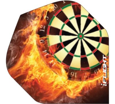 i-Flight Flaming Dartboard Standard Flight