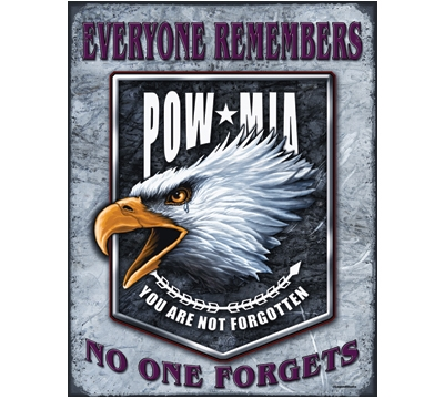 POW-MIA Metal Sign