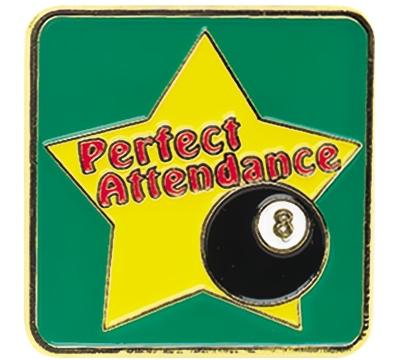 Perfect Attendance Pin