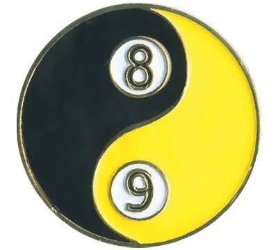 Yin Yang 8/9-Ball Pin
