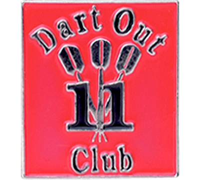 11 Dart Out Club Pin