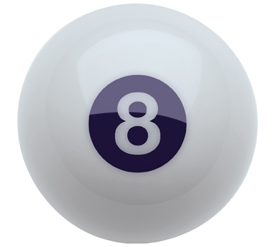 White Belgian Aramith 8-Ball