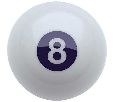 White Belgian Aramith 8-Ball