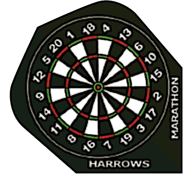 Dartboard Marathon Hard Poly Standard Flight