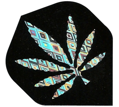 Silver Hemp Leaf 2D/3D Flight