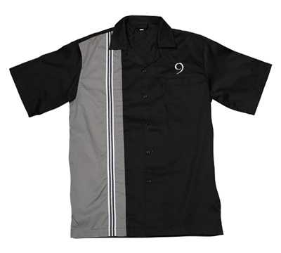 RT9 Men's Black Bowling Retro Shirt