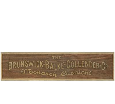 Wood Brunswick® Rail Plate 1912-1930