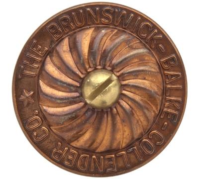 Brass Rail Cap with Screw