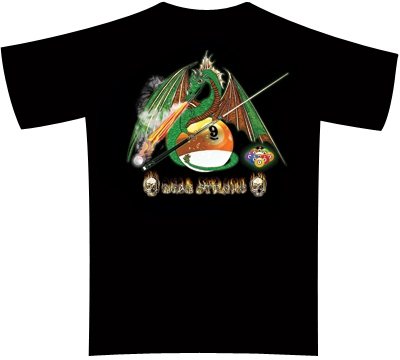 Dead Stroke Pool T-Shirt – 9-Ball Dragon