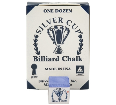 Electric blue Silver Cup Billiard Chalk – Box/12