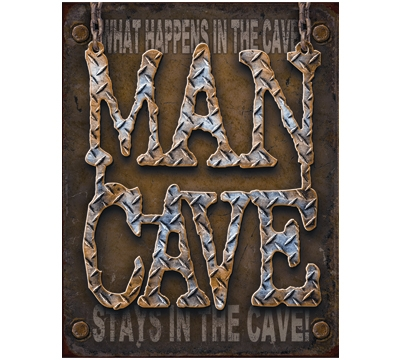 Man Cave Metal Sign