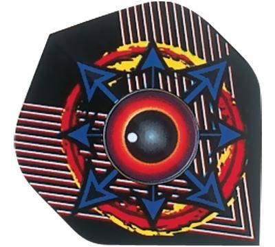 Black Ball/Multicolor Arrows Hard Poly Flight