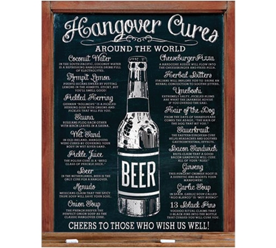 Hangover Cures Metal Sign