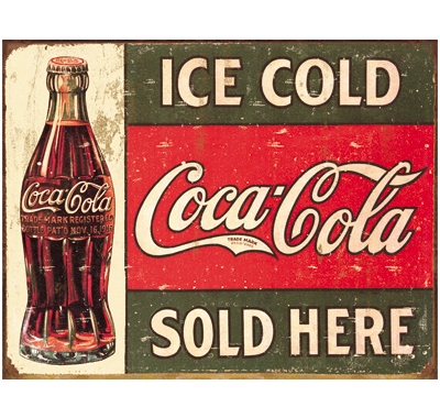 Vintage Coke Metal Sign