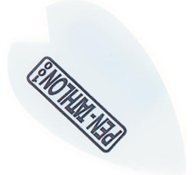 White Double-Thick Poly Pen-tathlon Vortex Flight
