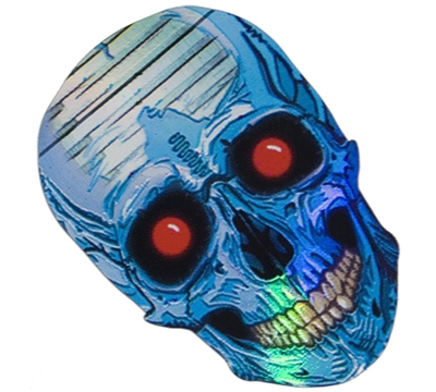 Skull/Red Eyes 2D/3D Slim Flight