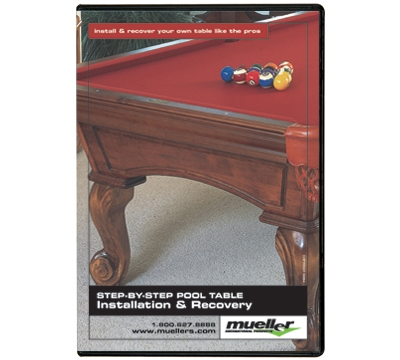 Step By Step Pool Table Installation And Recovery DVD