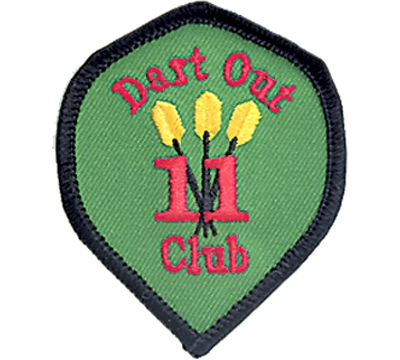 11 Dart Out Club Patch