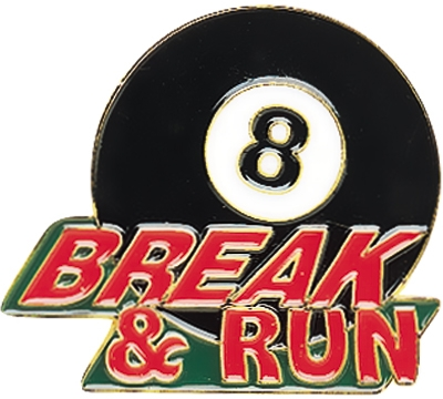 8-Ball Break & Run Pin