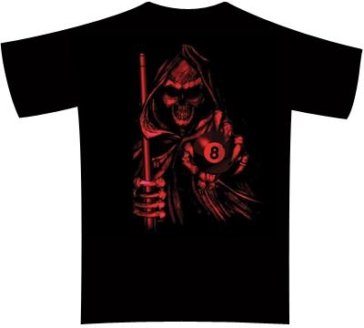 Dead Stroke Pool T Shirt Red Reaper Mueller S Billiard