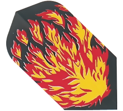 Flames Hard Poly Slim Flight