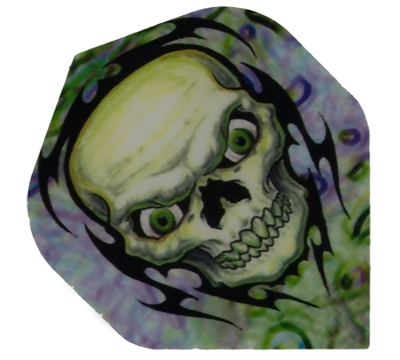 Green Tinted Skull Hard Poly Flight