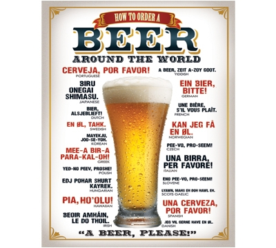 Beer Around The World Metal Sign