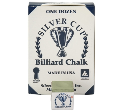 Olive Silver Cup Billiard Chalk – Box/12