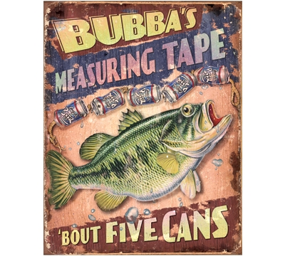 Bubba's Measuring Tape Metal Sign