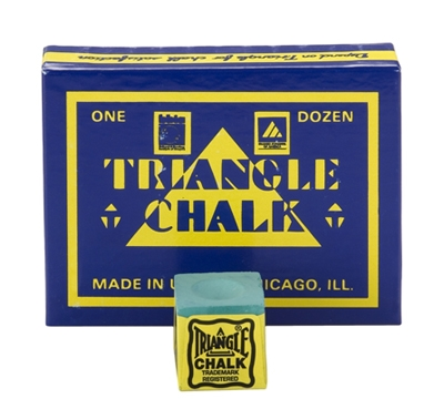Green Triangle Billiard Chalk – Box/12