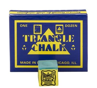 Green Triangle Billiard Chalk – Box/12