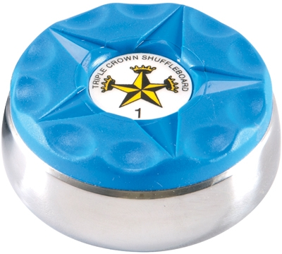 Triple Crown Individual Shuffleboard Puck Blue