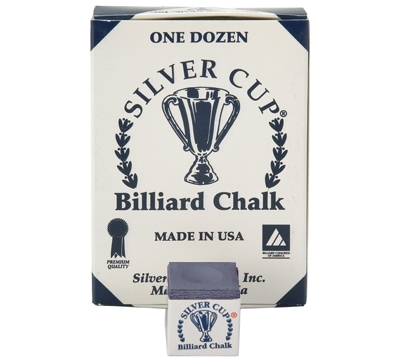 Navy Silver Cup Billiard Chalk – Box/12