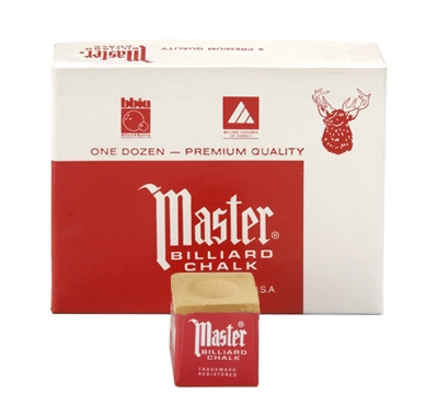 Gold Master Billiard Chalk – Box/12