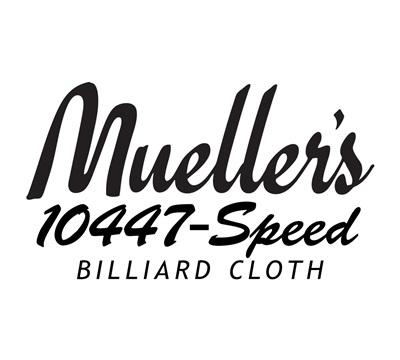 Mueller's 10447-Speed Billiard Cloth – Rubber-Backed