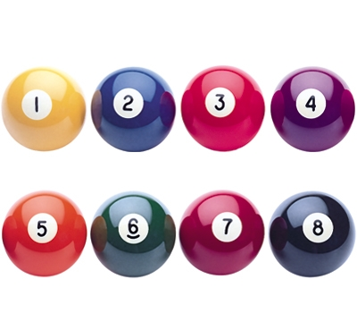 "Aramith Solid 2-1/4"" Regulation Replacement Balls"