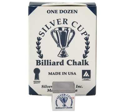 Charcoal Silver Cup Billiard Chalk – Box/12