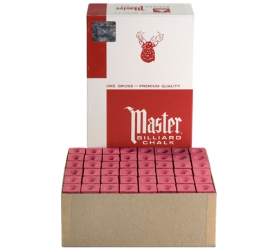Red Master Billiard Chalk – Box/144