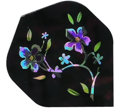 Flowers on Black 2D/3D Flight