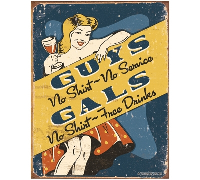 Guys And Gals Metal Sign